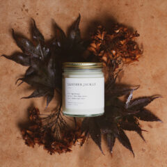 Leather Jacket Candle by Brooklyn Candle Studio