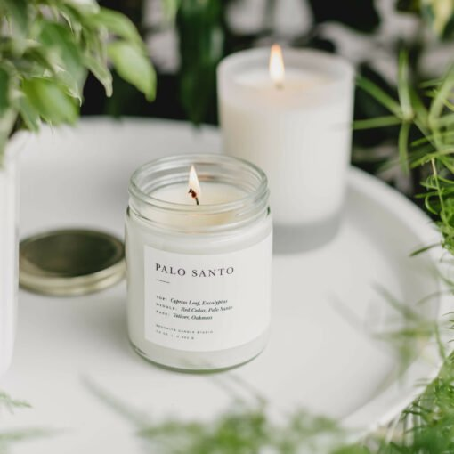 Palo Santo Scented Candle by Brooklyn Candle Studio