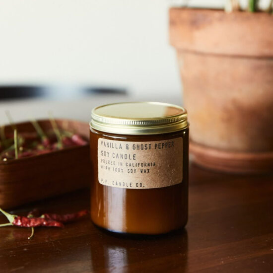 Vanilla & Ghost Pepper Scented Candle by P.F. Candle Co.