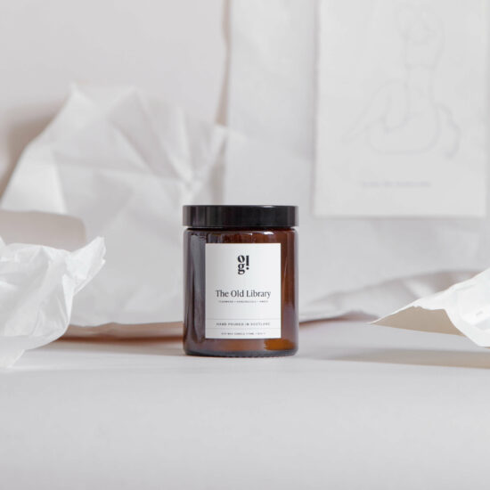 The Old Library Scented Candle by Our Lovely Goods