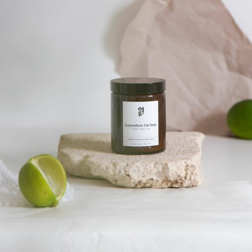 Somewhere Far Away Scented Candle by Our Lovely Goods