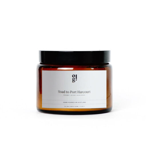 The Road to Port Harcourt Scented Candle by Our Lovely Goods